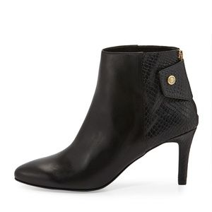 Cole Haan snake embossed heeled boot Claremont
